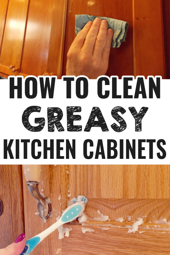 How to Clean Greasy Kitchen Cabinets - The House Talk